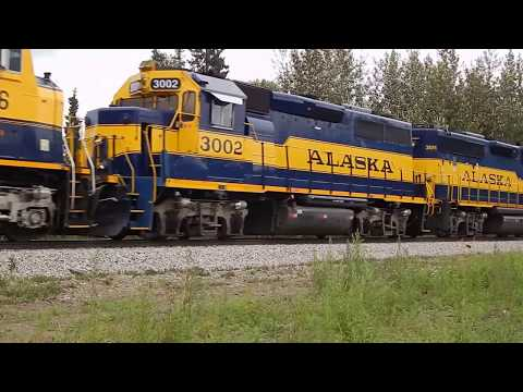 Hopping freight trains in Alaska - Southbound freight being made up at Fairbanks, Alaska, yards ~~~