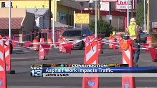ART asphalt sealing work starts Wednesday on Central from Coors to Yucca