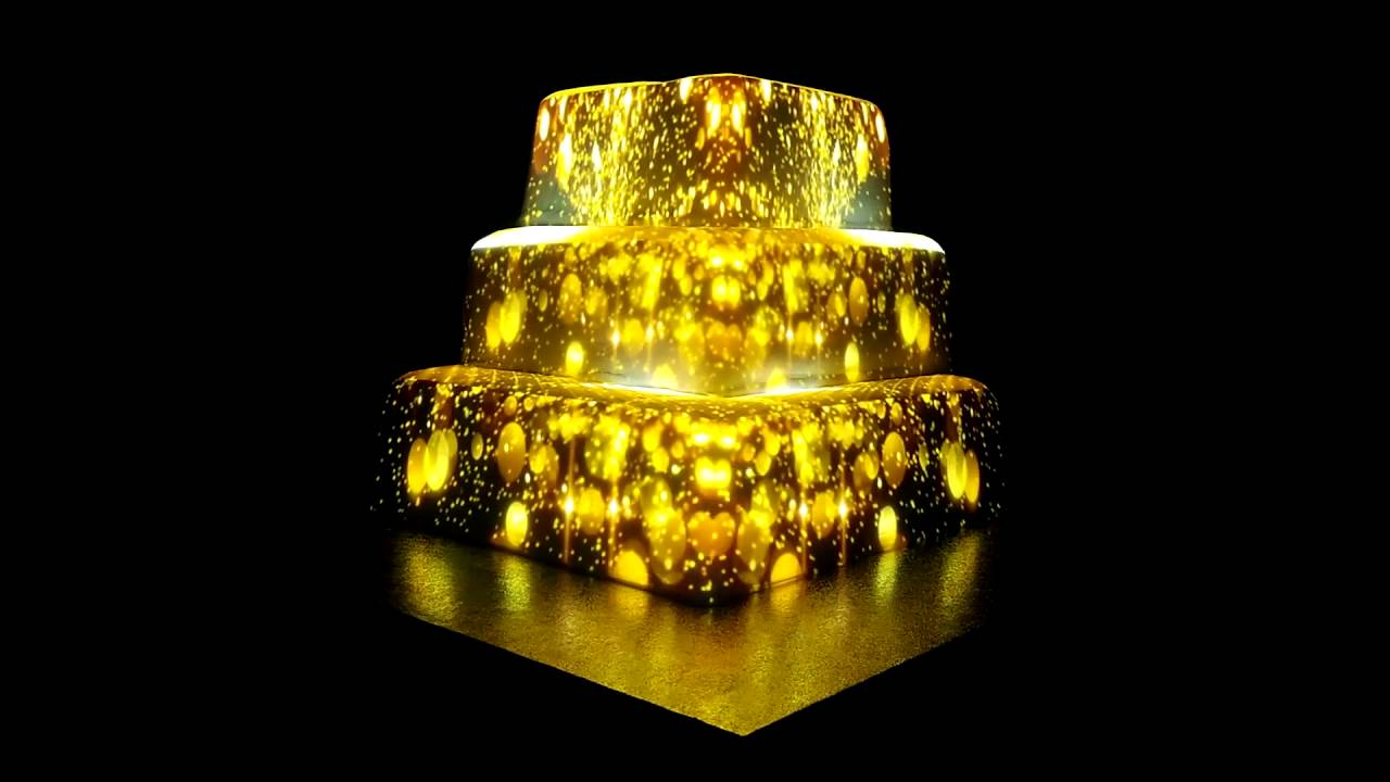 projection mapping wedding cake - YouTube