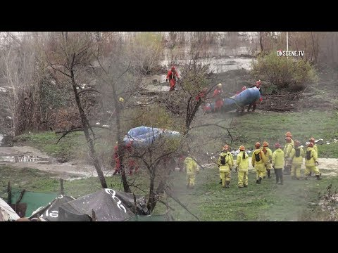 Crews Rescue Numerous Victims Trapped In Riverbed Amid Heavy Rains