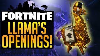 ForTNite LLAMA OPENING GOLDEN LLAMA SILVER LLAMA Legendary Loot Unboxing