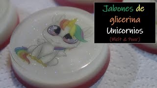 Jabones de glicerina unicornios