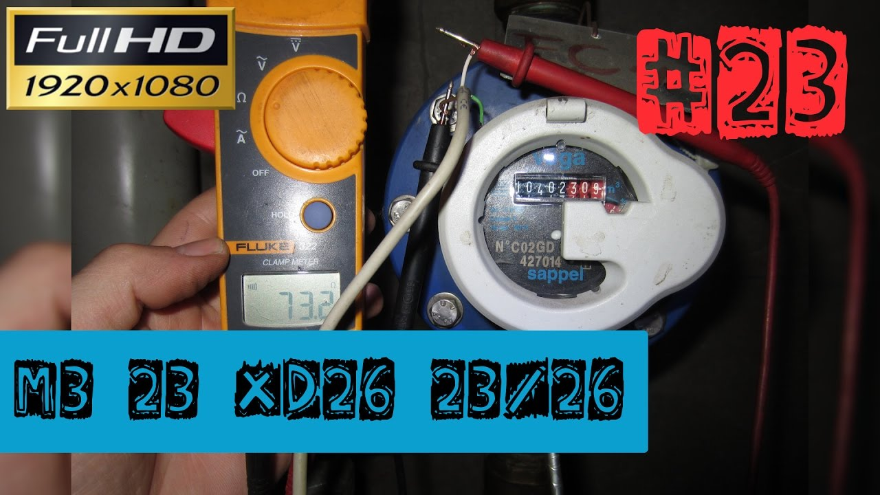M3 23XD262326Le test du compteur deau à impulsioncâblage et