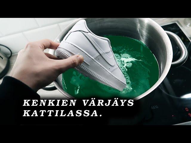 Keitin kengät väriaineessa! (Air force 1 custom)