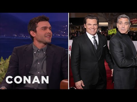 Alden Ehrenreich On Working With George Clooney   CONAN on TBS
