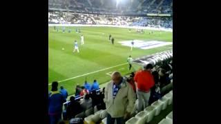 Roberto rosales antes del partido calentando