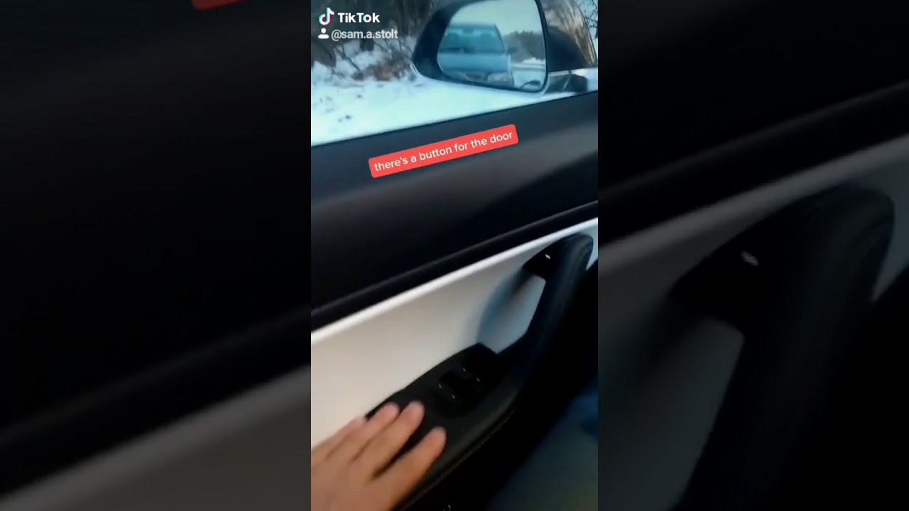 how to use manual latch to open door on tesla model 3 or ...