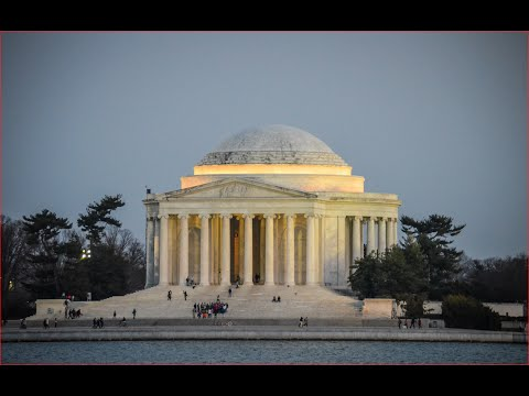 Visiting Thomas Jefferson Memorial, Building in Washington, D C , United States of America