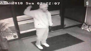 Einbrecher freut sich zu früh: Breakdance vor der Überwachungskamera
