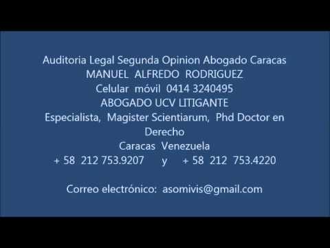 Auditoria Legal Segunda Opinion Abogado Caracas