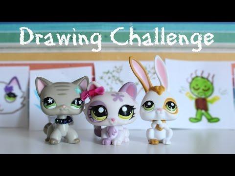 LPS | Drawing Challenge Feat. BunnySlipinVids & LPSandBigeyes101