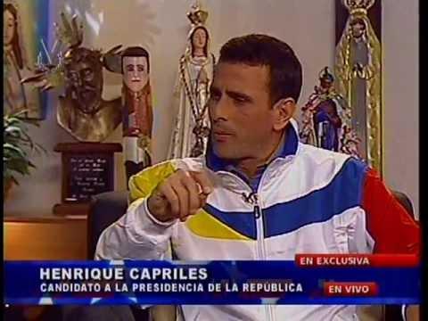 Entrevista a Henrique Capriles Radonski en Venevision - Parte 1