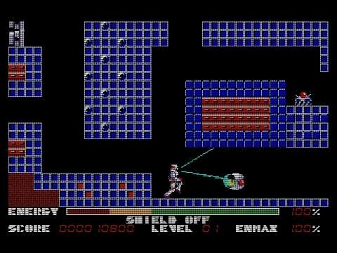 Pc 88 Thexder 1985 Game Arts Youtube