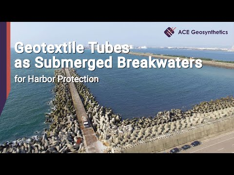 Geotextile Tubes as Submerged Breakwaters for Harbor Protection