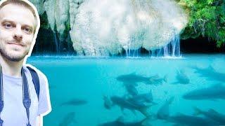 Waterfalls of Erawan National Park, Thailand