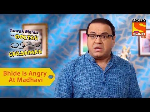 Your Favorite Character   Bhide Is Angry At Madhavi   Taarak Mehta Ka Ooltah Chashmah