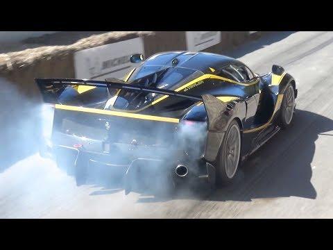 Ferrari FXXK EVO  Burnouts and INSANE V12...