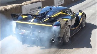 Ferrari FXXK EVO  Burnouts and INSANE V12 Sound!