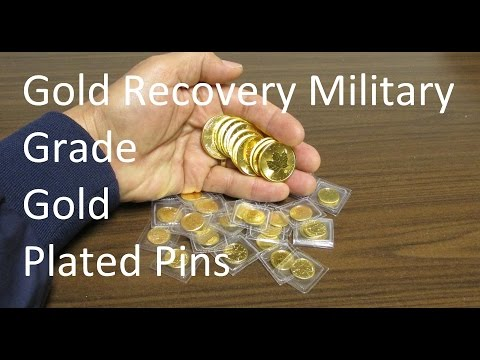 Gold Recovery Military Grade Gold Plated Pins