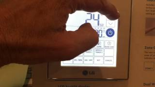 How to set timer & time on LG touchscreen controller PDRCUDC0