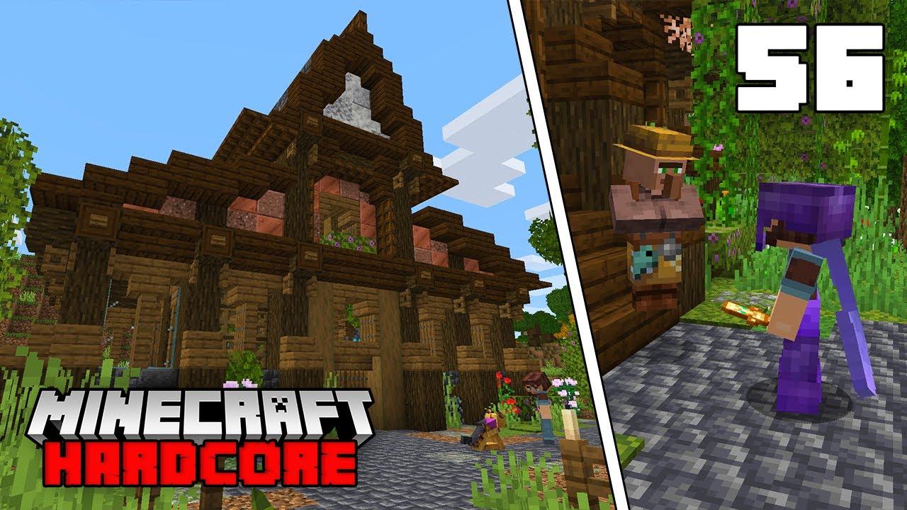 Minecraft Hardcore Let's Play - Automatic Flower/Dye Farm!!!
