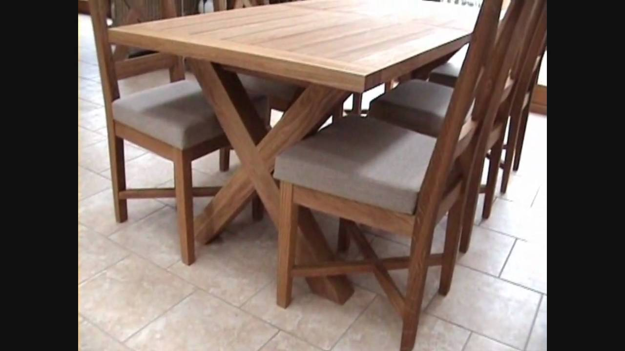 Cross leg extending oak dining table in a staffordshire barn youtube - Crossed leg dining table ...