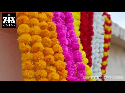 Indian Decoration Ideas Stuff Colorful Home Decor Artificial Marigold Diwali Strings Party Backdrops