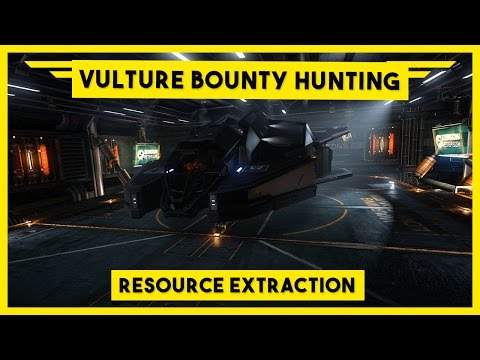 Elite Dangerous Vulture Bounty Hunting - High Intensity Resource Extraction Site