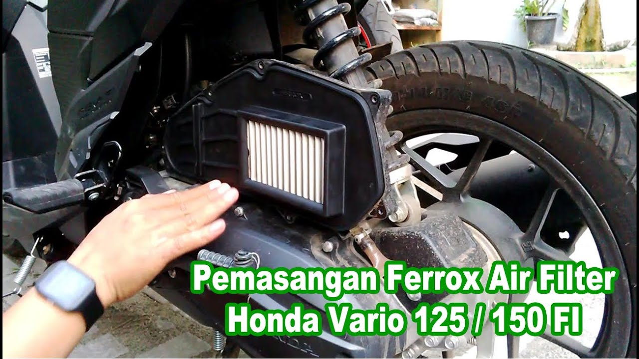 Modifikasi Filter Udara Vario Kumpulan Motor Ferrox Honda Beat Pgm Fi Pemasangan Air 125 150 Youtube