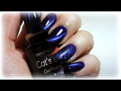 Cat Eye Nails Design In Matt Und Glanzend Youtube