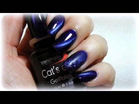 Cat Eye Nails Design In Matt Und Glanzend Youtube