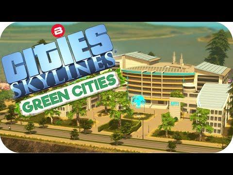 Cities: Skylines Green Cities ▶ISLAND HILL-TOP UNIVERSITY PARK◀ Cities Skylines Green Cities Part 8