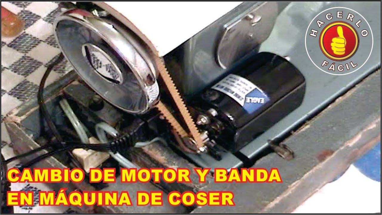 Como Poner Un Motor Electrico A Una Maquina De Coser