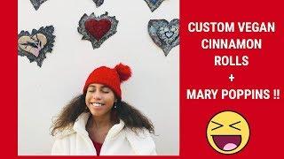 VLOGMAS | DAY 23 : VEGAN CINNAMON ROLLS + MARY POPPINS || Asia Monet