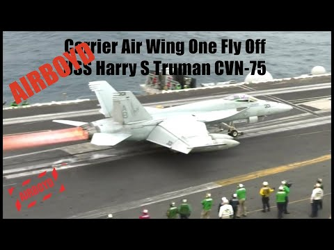 Carrier Air Wing One Fly Off - USS Harry S. Truman (CVW-1)