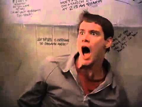 Lloyd Christmas Scared