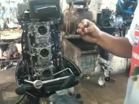 outboard motor 2 stroke johnson how to clean the carburators