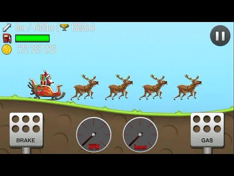 Hill Climb Racing/SLEIGH/ALL UNLOCKED/Gameplay make more fun kid #1
