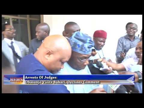 Arrest Of Judges: Obasanjo Meets Buhari, Decline Comment
