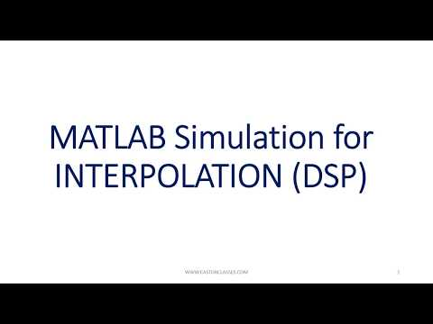 MATLAB Simulation for INTERPOLATION in DSP