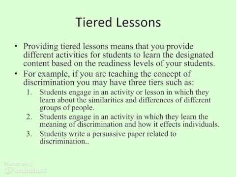 Differentiated Instruction For Gifted Learners And Students With
