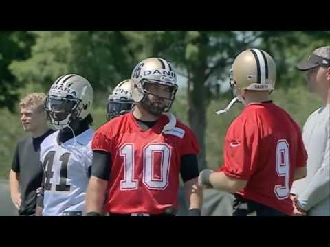 Raw video: Adrian Peterson hits the field with New Orleans Saints