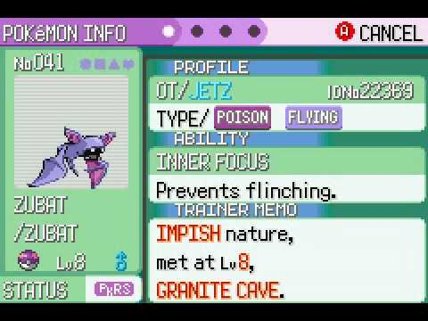 Pokemon emerald infected with Pokerus or pokevirus