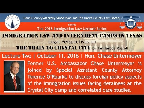2016 Immigration Law Lecture Series (2 of 3) - Featured Speaker Hon. Chase Untermeyer