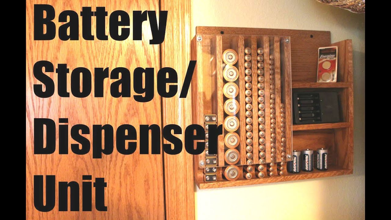 Battery Storage/Dispenser! Get Organized!   YouTube