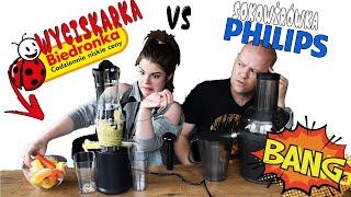 BIEDRONKA WYCISKARKA WOLNOOBROTOWA vs PHILIPS Sokowirówka #004