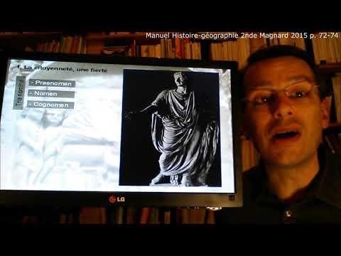 Etre citoyen romain aux Ier et IIe siècles après  Jésus-Christ