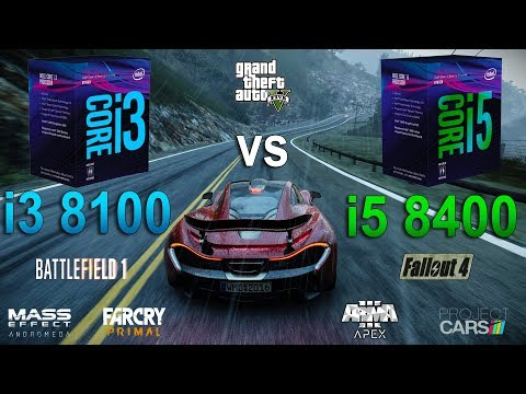 i3 8100 vs i5 8400 Test in 7 Games