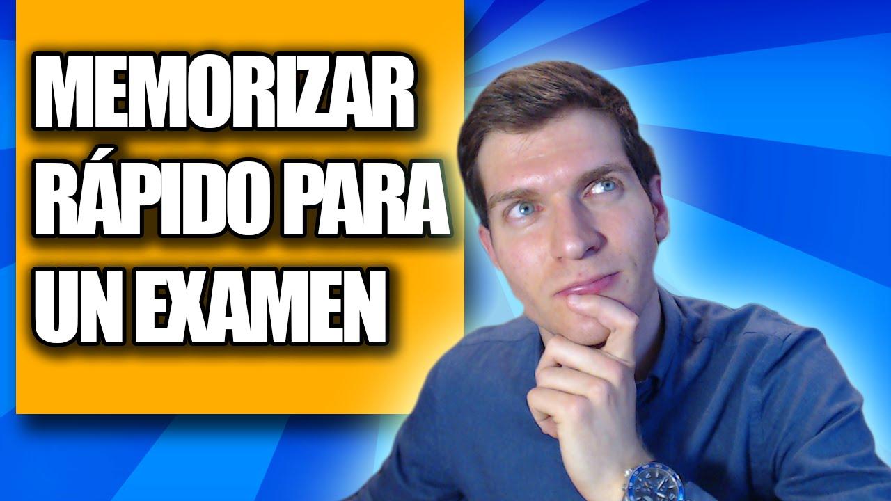 Cómo Memorizar Rápido para un Examen (3 Nuevos Trucos) - YouTube