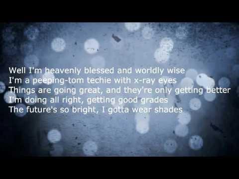 Timbuk 3 - The Future's So Bright I Gotta Wear Shades Lyrics